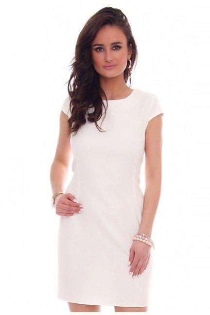 Sukienka ołówkowa mini CMK37 biała
