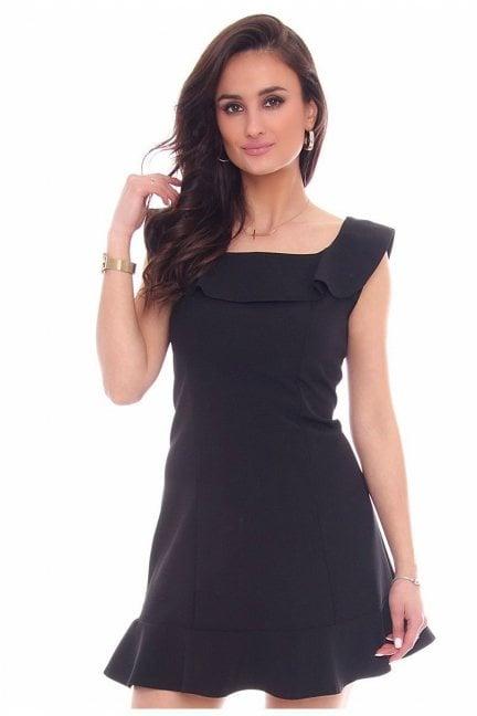 Sukienka falbanka hiszpanka CM464 czarna