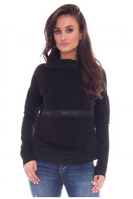 Bluza modna z suwakiem CM330 czarna