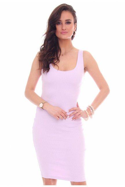 Sukienka ołówkowa na ramiączka fioletowa
