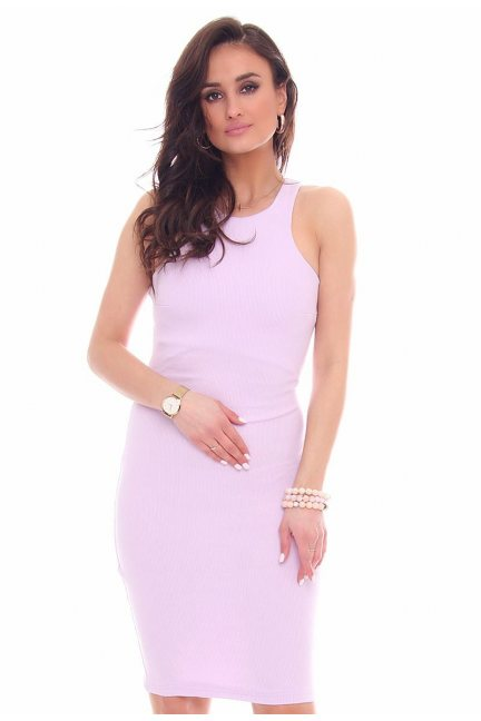 Sukienka dopasowana CMK49 jasno fioletowa