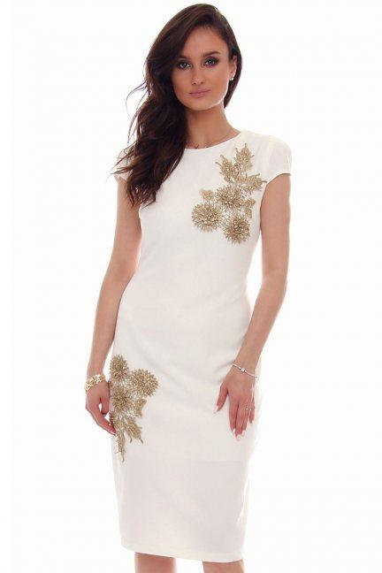 Sukienka ołówkowa midi CMK52 biała