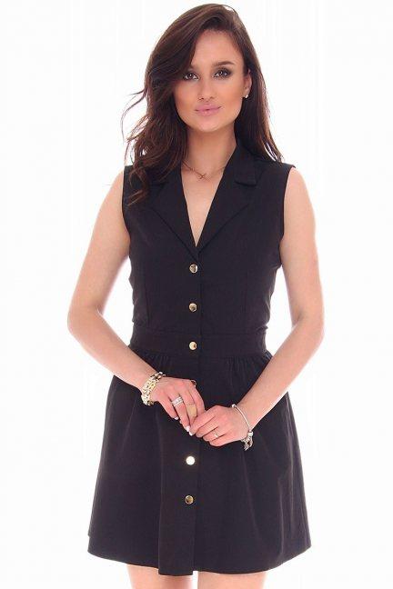 Sukienka mini z guzikami CMK55 czarna