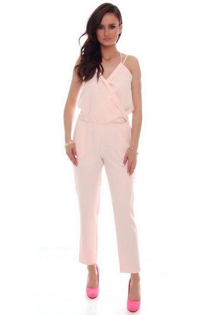 Kombinezon modny dekolt CMK56 różowy