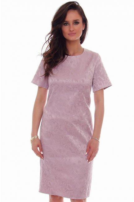 Sukienka midi rozcięcie CMK57 fioletowa