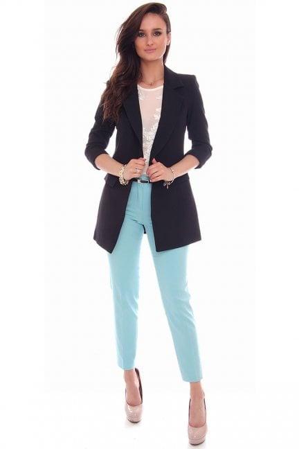 Spodnie eleganckie pasek CMK72 niebieskie
