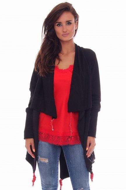 Bluza modna kieszenie CMK85 czarna