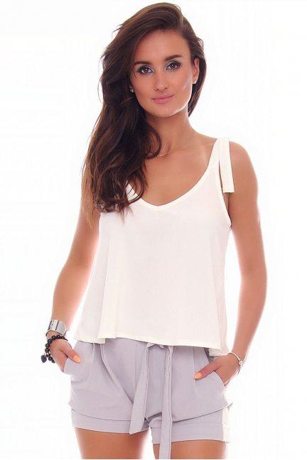 Bluzka krótka ramiączka CMK86 biała