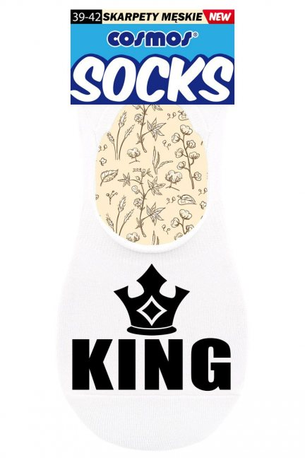 Stopki sportowe KING CS308 białe