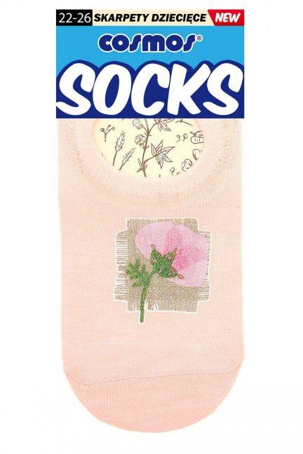 Stopki kolorowe z kwiatkiem CS353 pudrowy róż
