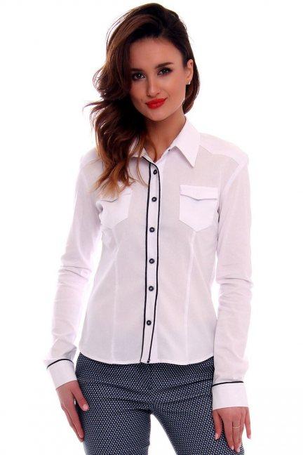 Koszula dopasowana gładka CMK569 biała