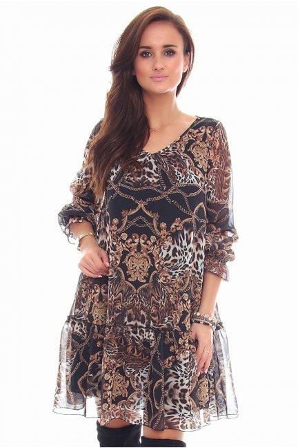 Sukienka elegancka mini CMK96 czarna