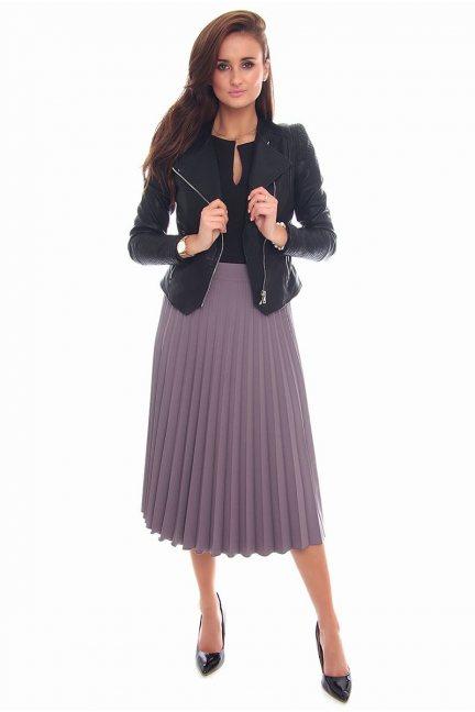 Spódnica plisowana midi CMK98 szara