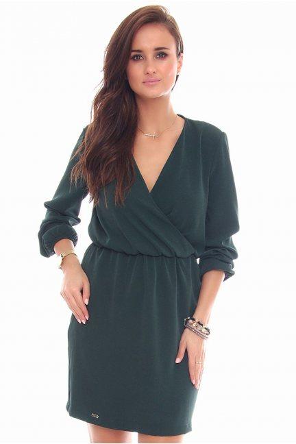 Sukienka mini wizytowa CMK100 zielona