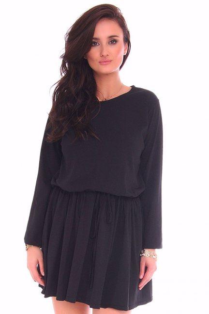Sukienka mini wiązana CMK115 czarna