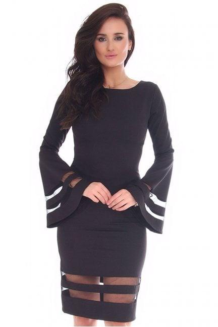 Sukienka elegancka midi CM596 czarna
