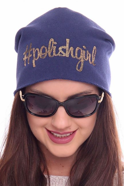 Czapka bawełna Polishgirl CMC025 niebieska