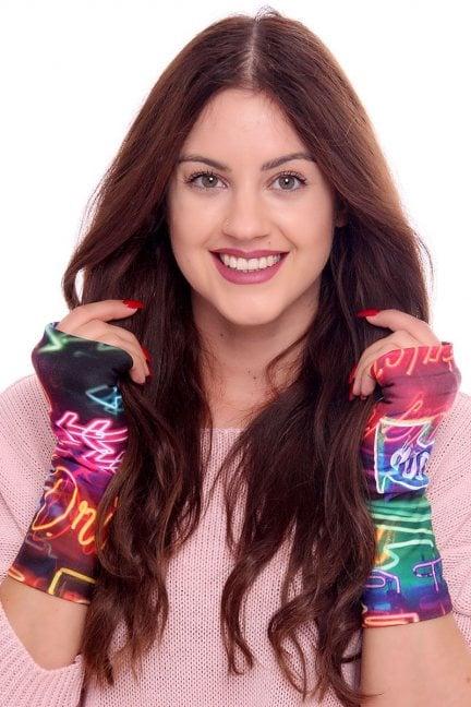 Rękawiczki modne kolorowe CMR04 czarne