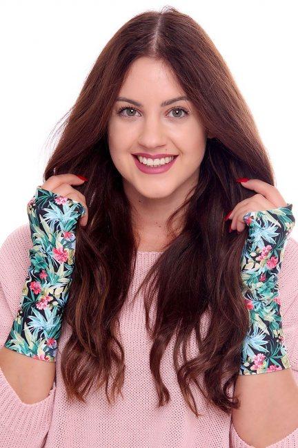 Rękawiczki modne kolorowe CMR04 zielone