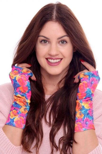 Rękawiczki modne kolorowe CMR04 różowe
