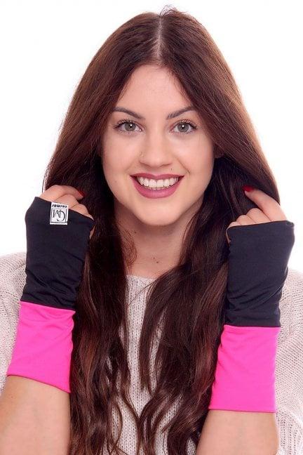Rękawiczki dwukolorowe CMR07 fuksja