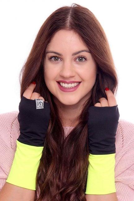 Rękawiczki dwukolorowe CMR07 żółte