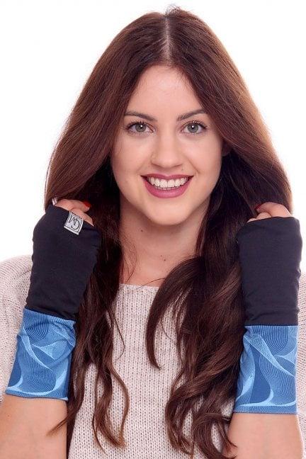 Rękawiczki modne wzór CMR08 czarne