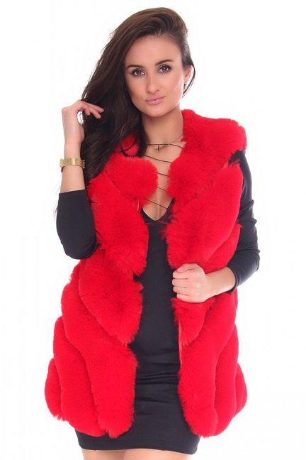 Futerko damskie ciepłe CMK0115 czerwone