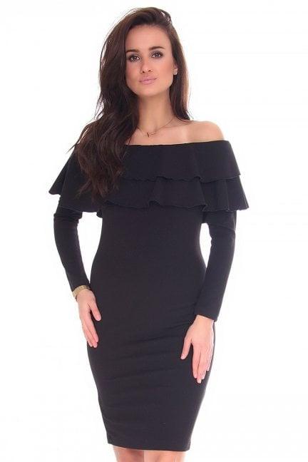 Sukienka hiszpanka midi CM587 czarna