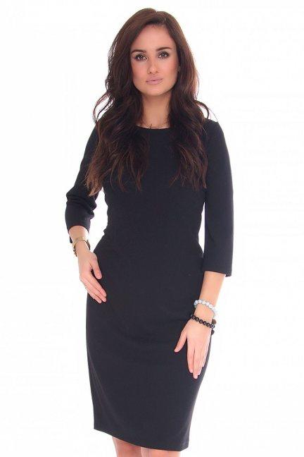 Sukienka midi ołówkowa CMK130 czarna