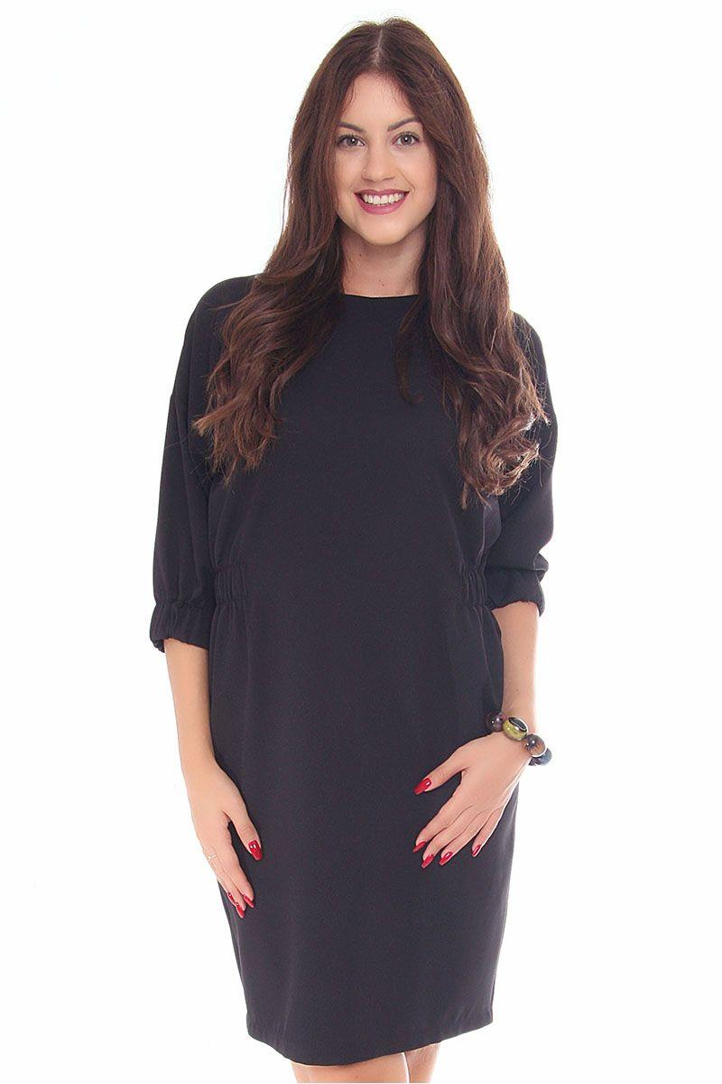 e1b04fbaa7 Sukienka dopasowana CMK129 czarna - Sukienki - CosmosModa