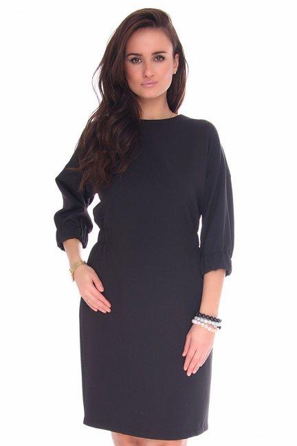 5e4b40700b Sukienka modna z musztardowym szalikiem