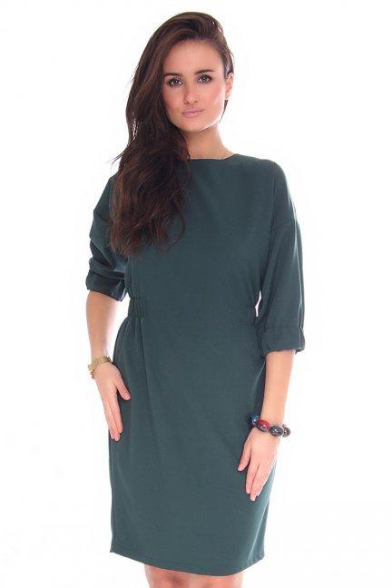 Sukienka dopasowana CMK129 zielona