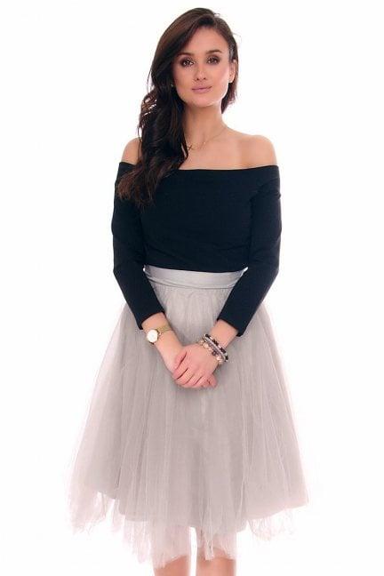 Sukienka tiulowa z koła CM379 szara