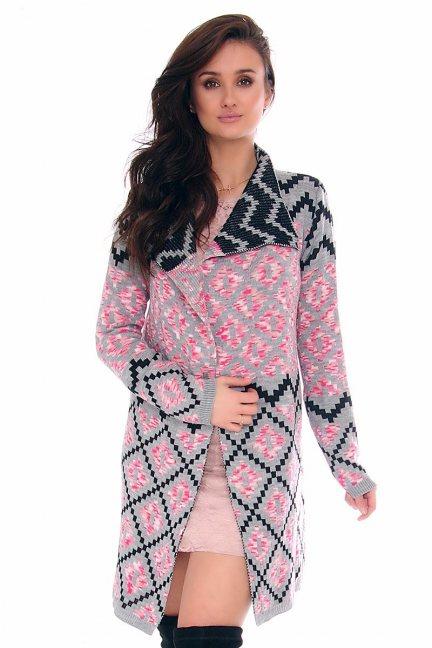 Sweter azteckie wzory CMK2017 szary