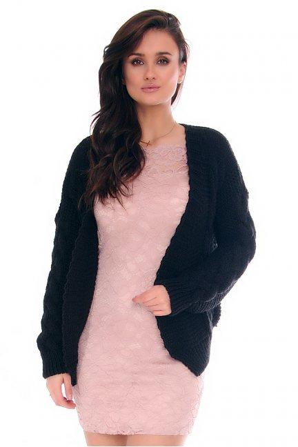 Sweter damski bolerko CMK755 czarny