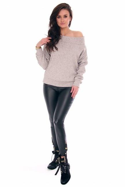 Spodnie woskowane rurki CMK141 czarne