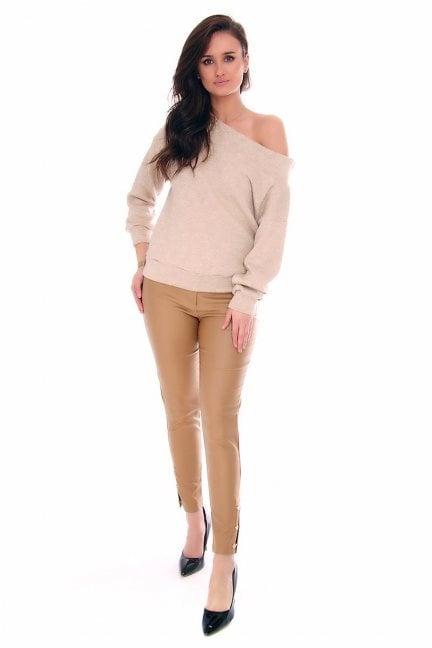 Spodnie woskowane rurki CMK141 musztardowe