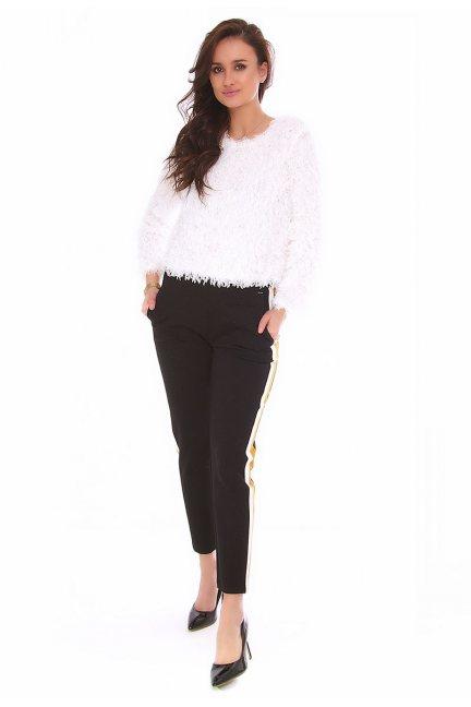 Spodnie cygaretki lampas CMK143 czarne