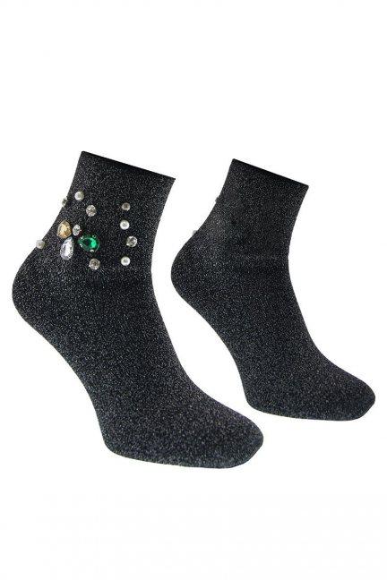Skarpety modne ozdoba CS530 czarne