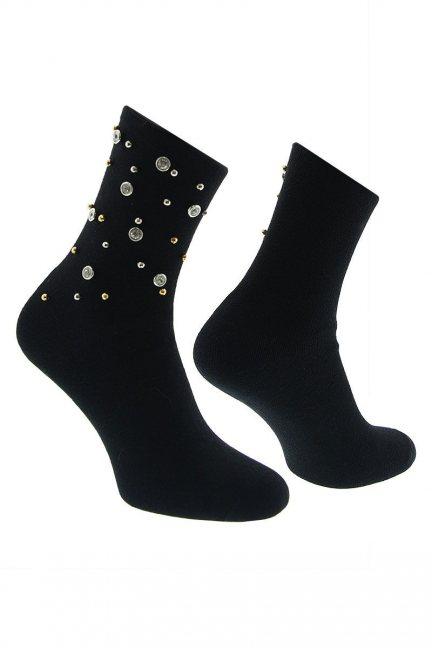 Skarpety modne ozdoba CS542 czarne