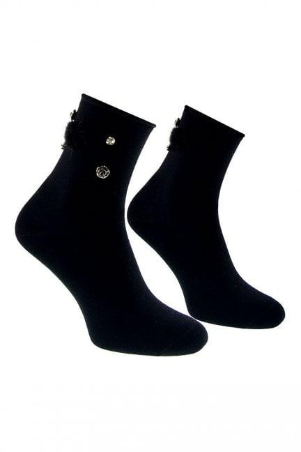 Skarpety modne puszek CS543 czarne
