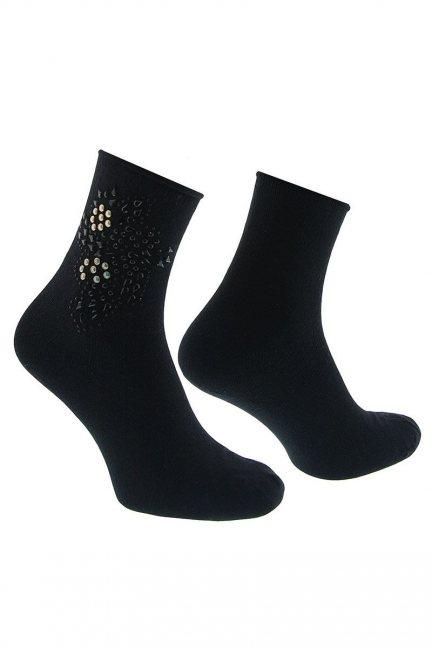 Skarpety modne ozdoba CS544 czarne