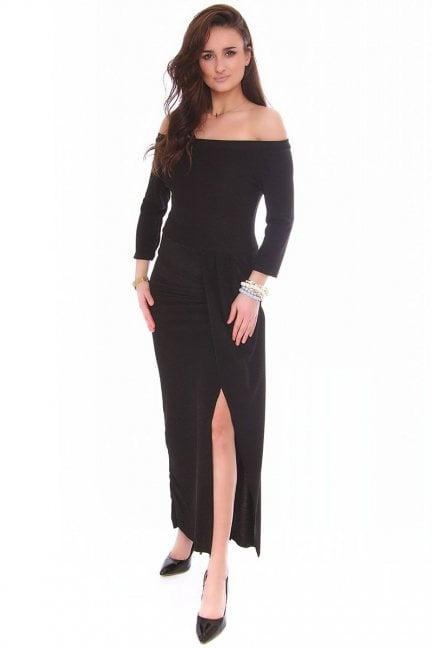 Sukienka dopasowana CMK147 czarna