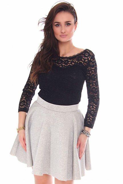 Body modne z koronki CMK159 czarne