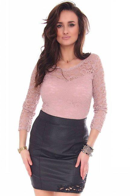 Body modne z koronki CMK159 różowe