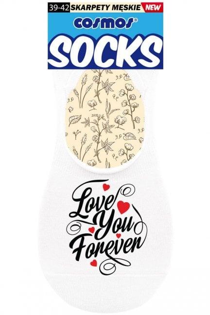 Stopki białe męskie Love You Forever