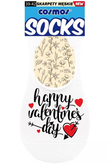 Stopki męskie napis Happy Valentine's Day
