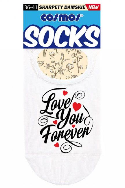 Stopki białe modne Love You Forever
