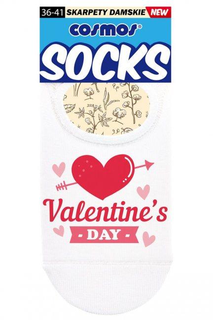 Stopki baletki damskie Valentine's DAY